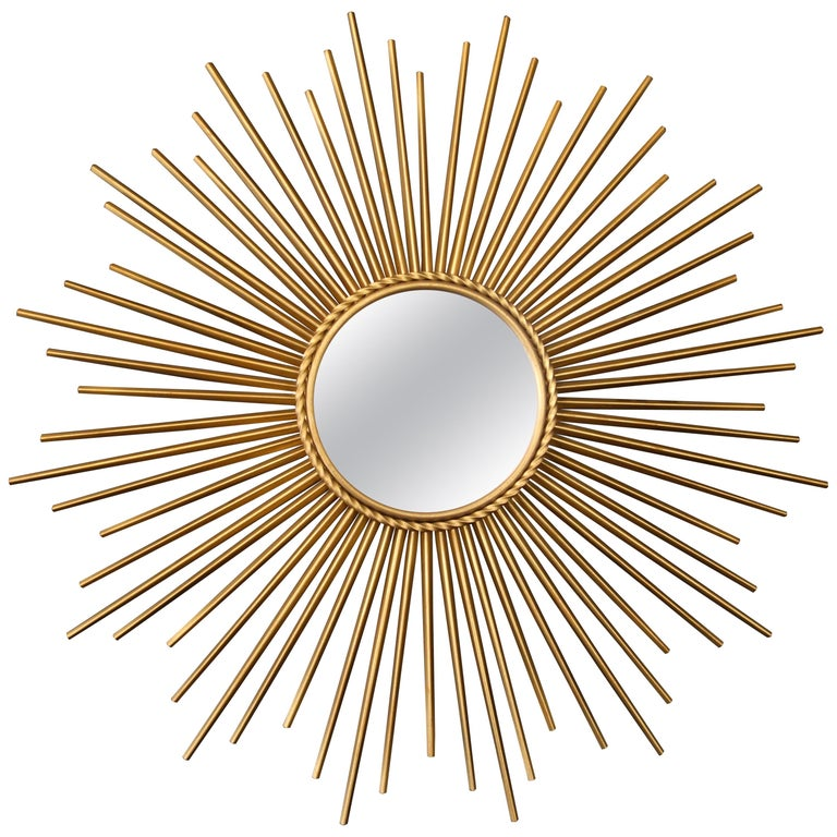 French Sunburst Mirror by Chaty Vallauris, 1960s