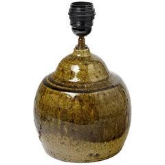 Stoneware Ceramic Table Lamp from La Borne French, circa 1970