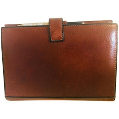 Vintage Leather Stitched Agenda Refillable by Tumi