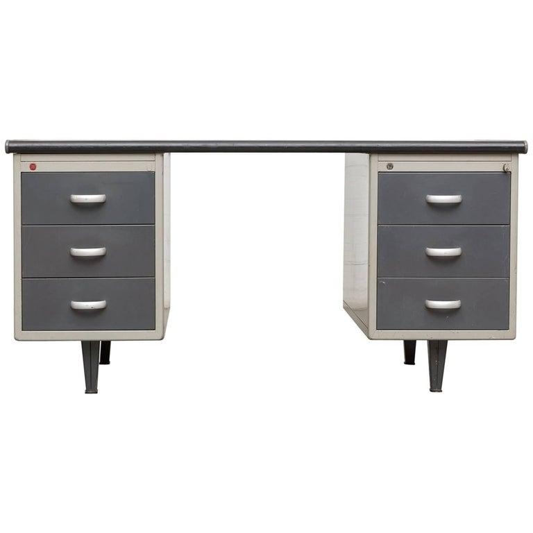 Executive Gispen Industrial Metal Desk
