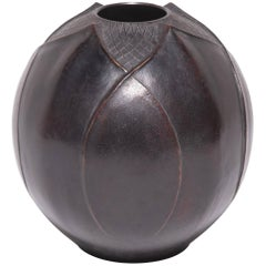 Early 20th Century Japanese Zinc Lotus Bud Vase