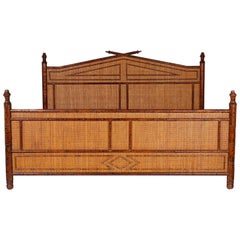 Faux Bamboo King-Size Bed