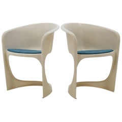 Set of Two Steen Østergaard Plastic Chair for Cado, 1970s