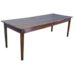Long Antique Oak Farm Table
