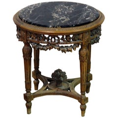 Louis XVI Style Marble Top End Table