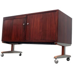 Rosewood Rolling Entertainment Cart