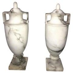 Urn Alabaster Table Lamps