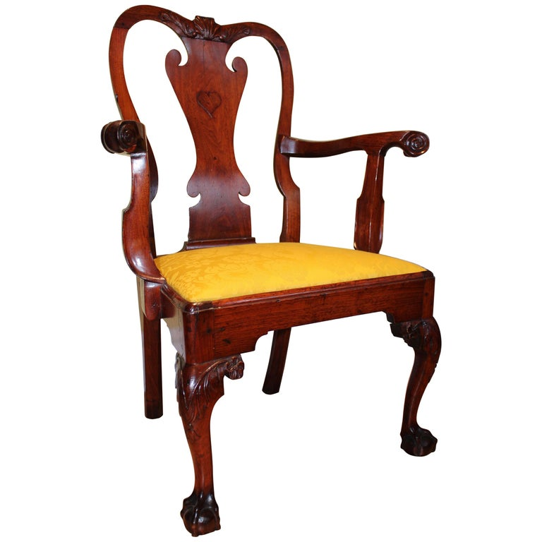 Walnut Chippendale Armchair