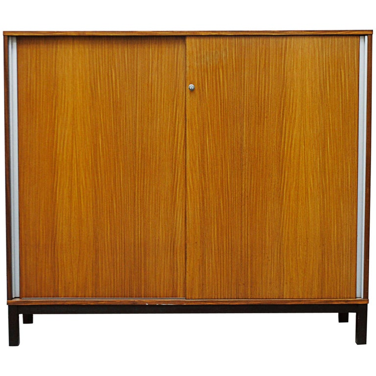 Giant Midcentury Teak Office Cabinet For Sale