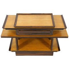 Sycamore Maple Art Deco Console Table by A.H.Zinsmeister for Gebr. Reens, 1930s