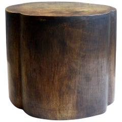 Patinated Bronze Stool or Side Table with Handles