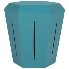 Hedra 14M, Painted Steel Turquoise Accent Table by Topher Gent