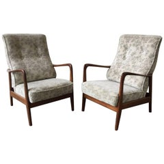 Very Rare Set of Two Lounge Chairs by Gio Ponti for Cassina