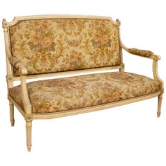 French Lacquered and Sofa in Louis XVI Style from 20th Century