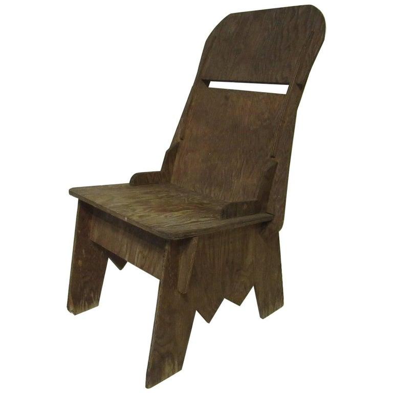 Early Midcentury Plywood Interlocking Chair