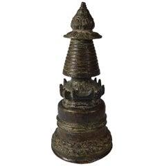 Antique Bronze Stupa Tibet, circa 18th Century