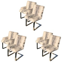 Six Paul Evans Cantilevered Chairs
