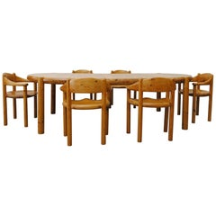 Rainer Daumiller Pine Dining Set for Hirtshals Savvaerk