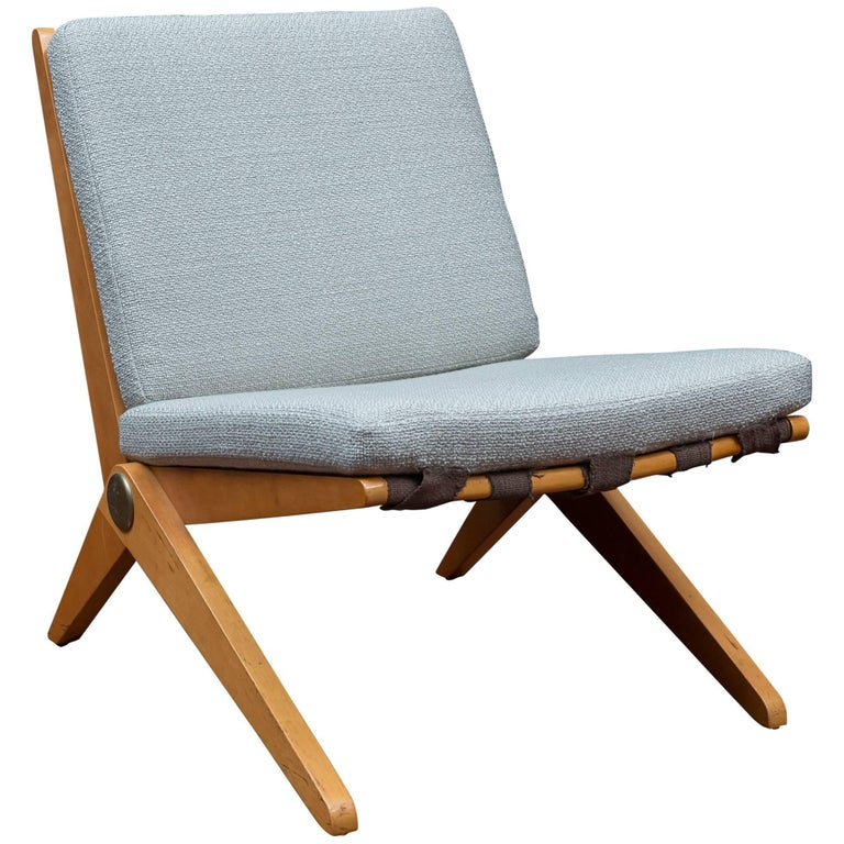 Pierre Jeanneret Scissor Chair for Knoll International, 1957 For Sale