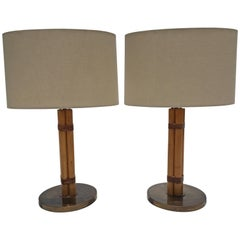 Table Lamps in Style of Paavo Tynell