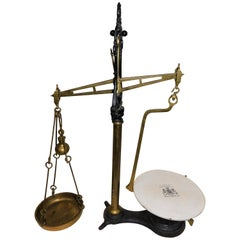 Large Early 20th Century King Edward vii W & T Avery Beam Scale
