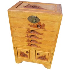 Chinese Camphor Wood Cutlery Cabinet