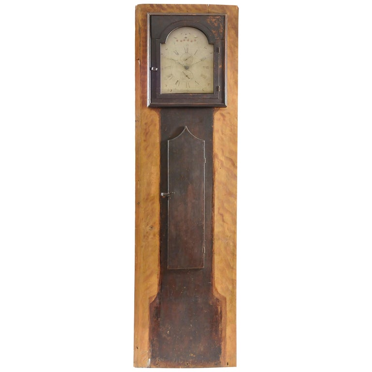 New Hampshire Architectural Faux Front Tall Case Clock For Sale