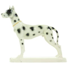 Great Dane Porcelain Sculpture, Hertwig & Co, Germany, circa 1940