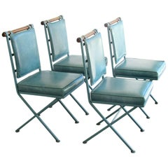 Set of Four Midcentury Modern Campaign Dining Chairs by Cleo Baldon, 1960s