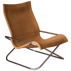 Vintage Takeshi Nii Leather Sling Chair