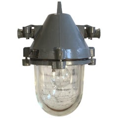 Dark Grey Aluminium Explosion Proof Lamp, 1960s