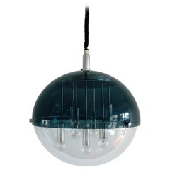Space Age Perspex Globe Pendant Lamp with Sputnik Style, 1970s