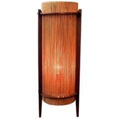 Rare Teak and Hemp String Floor Lamp by Ib Fabiansen for Fog & Mørup, 1950s