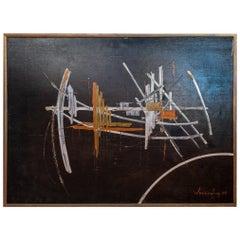 Jean Wenceslas Painting Oil on Canvas, 1968, France