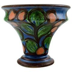 Kähler, Denmark, Glazed Stoneware Vase, 1940s