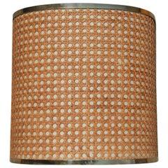 Sconces Wicker Brass Italian Design 1970s Curved
