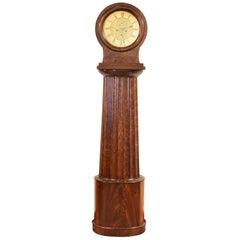 Scottish Mahogany Case Clock Retaining Original Works, Glasgow, circa 1810-1820