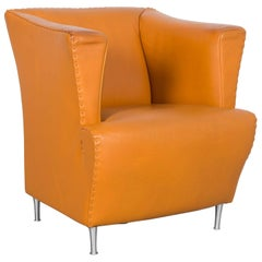 De Sede Leather Armchair Yellow Orange One-Seat