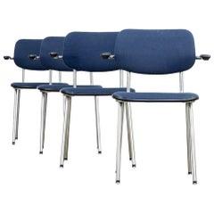 1980s A.R. Cordermeyer '1235 Cirrus' Chair for Gispen Set/4