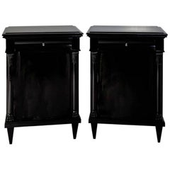 Pair of Ebonized Cabinets, First Half of the 19th Century
