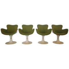 """Set of Four Armchairs """"Trèfle"""" by Christian Adam for Airborne, 1970s"""