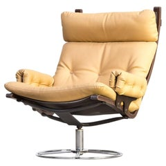 1970s Bruno Mathsson Swivel Fauteuil for DUX