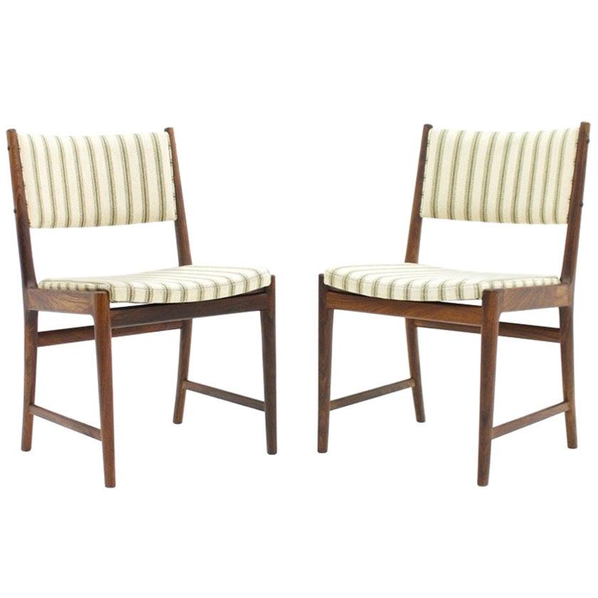 Pair of Side Chairs by Kai Lyngfeldt-Larsen for Søren Willadsen, Denmark, 1960s