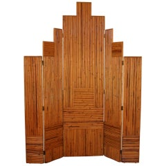 "Art Deco Bamboo ""Skyline"" Screen"