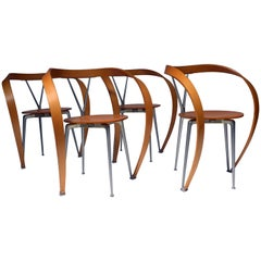 Set of Four Revers Chairs, Andrea Branzi for Cassina, 1993