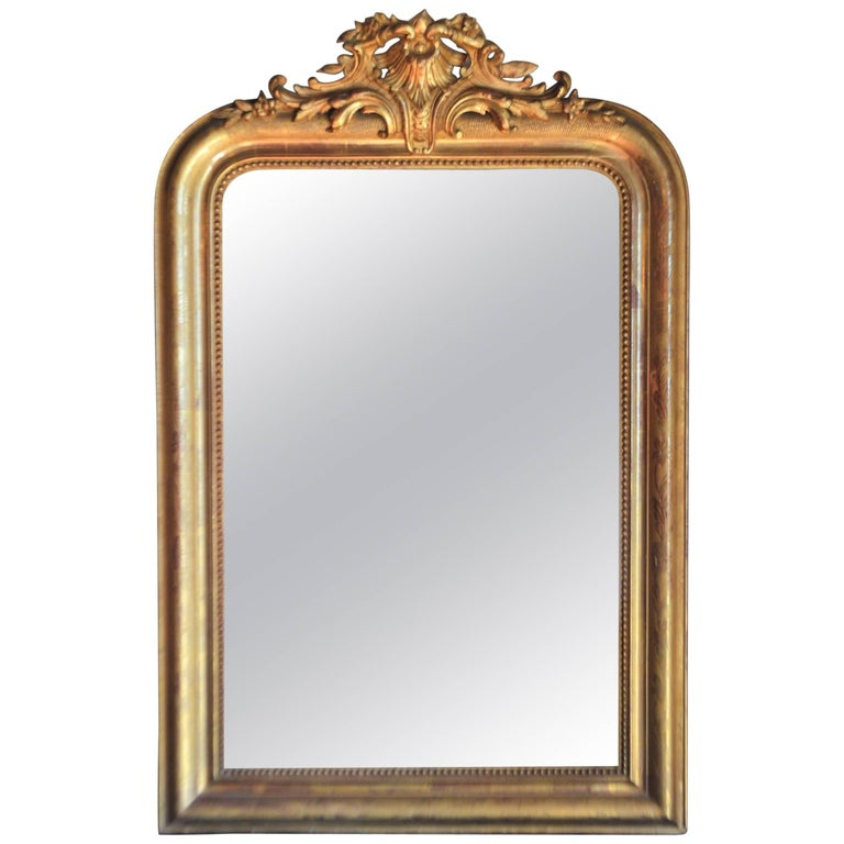 Louis Philippe Period Gilded Mirror, Original Mirror