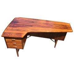 Rosewood Desk by Peter Lovig Nielsen for Hedensted Mobelfabrik