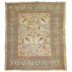 Camel Field Persian Bakshaish Square Size Rug