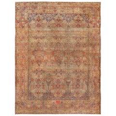 Oversize Antique Persian Lavar Kerman Rug