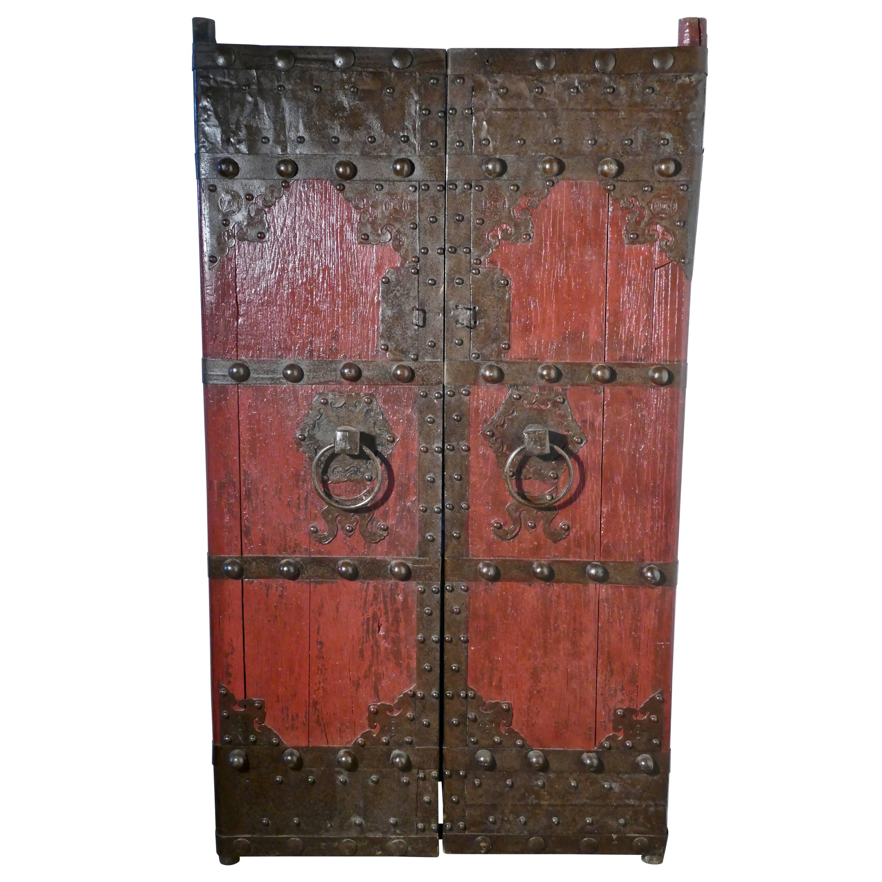 18th Century Heavy Painted Oak and Iron Oriental Doors For Sale  sc 1 st  1stDibs & 18th Century Heavy Painted Oak and Iron Oriental Doors For Sale at ...